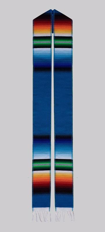 Turquoise Embroidered Sash