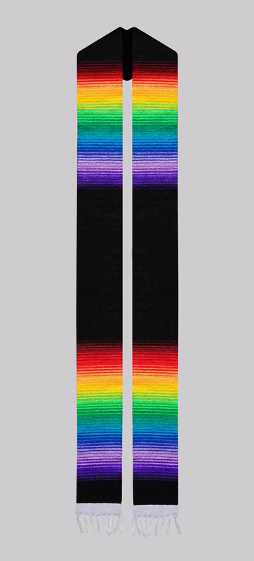 Black Rainbow Sash (Out of Stock)