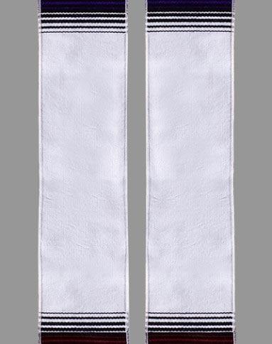 White Rainbow Sash