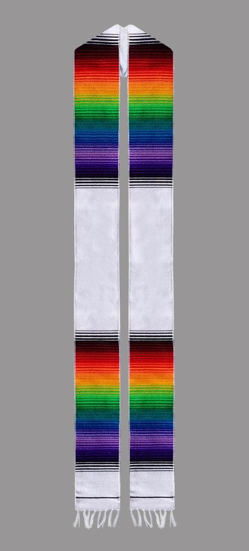 White Rainbow Sash